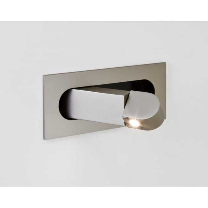Astro Lighting Digit Single Light LED Switched Recessed Reading Light In Matt Nickel Finish