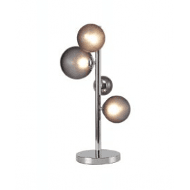 Discovery Astronomer 3 Light Table Lamp in Polished Chrome Finish