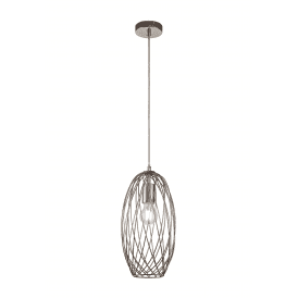 Discovery Aviary Single Light Ceiling Pendant in Polished Nickel Finish
