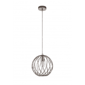 Discovery Aviary Single Light Globe Pendant in Polished Nickel Finish