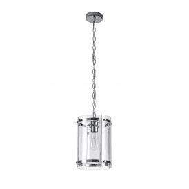 Discovery Bobbin Single Light Ceiling Pendant in Polished Chrome Finish