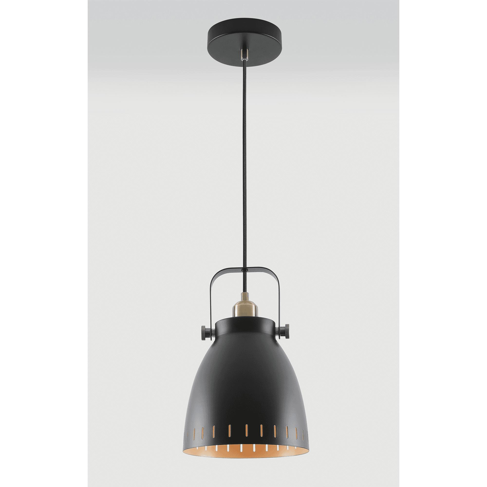 Discovery Lighting Volta Single Light Medium Ceiling Pendant In Black Finish Castlegate Lights
