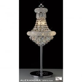 Alexandra 6 Light Polished Chrome Table Lamp with Asfour Crystal