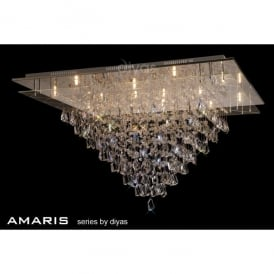 Amaris 14 Light Semi-Flush Ceiling Fixture in Polished Chrome