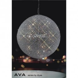 Ava 18 Light Crystal Ceiling Pendant