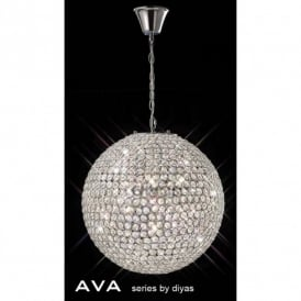Ava 7 Light Crystal Ceiling Pendant