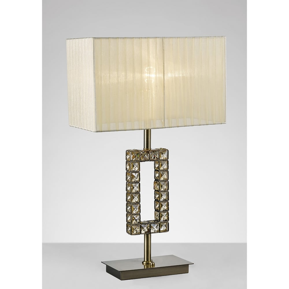 Diyas florence single light rectangular table lamp in Types of table lamps