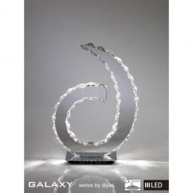 Galaxy 18 Light Daylight White LED Table Lamp in Polished Chrome with Crystal Detail