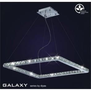 Galaxy 36 Light Daylight White LED Square Ceiling Pendant