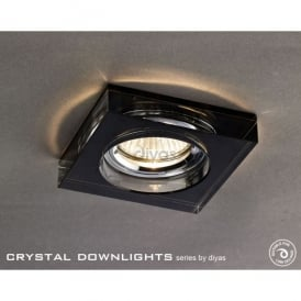 Halo Cluster Recessed Black Crystal Square Downlight Fascia Only