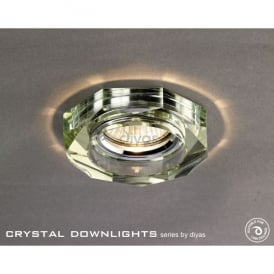 Halo Cluster Recessed Clear And Bronze Crystal Hexagonal Downlight Fascia Only