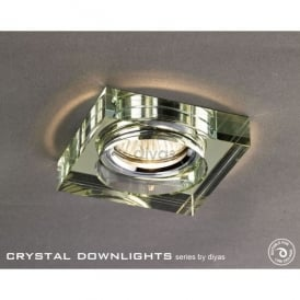 Halo Cluster Recessed Clear And Bronze Crystal Square Downlight Fascia Only