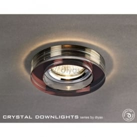 Halo Cluster Recessed Clear And Dark Purple Crystal Round Downlight Fascia Only