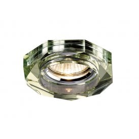 Halo Cluster Recessed Clear And White Wine Crystal Hexagonal Downlight Fascia Only