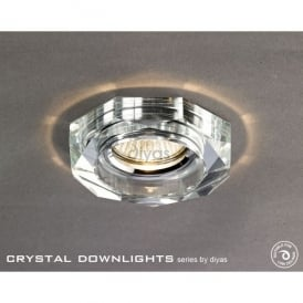 Halo Cluster Recessed Clear Crystal Hexagonal Downlight Fascia Only