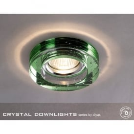 Halo Cluster Recessed Green Crystal With Bubbles Effect Round Downlight Fascia Only