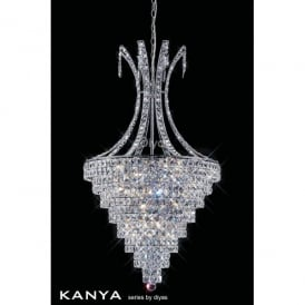 Kanya Large 10 Light Ceiling Pendant with Asfour Crystal Decoration
