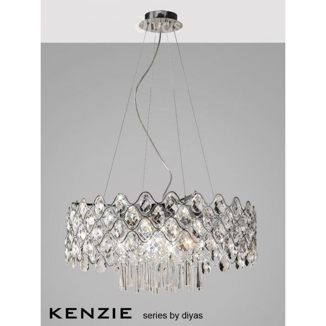 Diyas kenzie 16 light halogen crystal ceiling pendant castlegate kenzie 16 light halogen crystal ceiling pendant mozeypictures Gallery