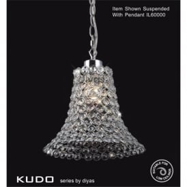 Kudo Bell Shaped Crystal Ceiling Light Pendant Shade in Polished Chrome Finish