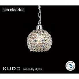 Kudo Circular Crystal Ceiling Light Shade in Polished Chrome Finish