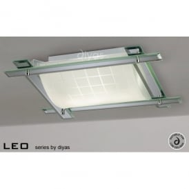 Leo 3 Light Flush Ceiling Fitting With Mirrored Frame