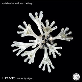 Love 6 Light Wall and Ceiling Fixture in Polished Chrome