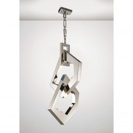 Ricadi 8 Light Ceiling Pendant In Stainless Steel Finish