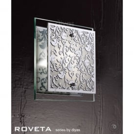 Roveta Single Light Wall or Ceiling Fitting in Polished Chrome Finish