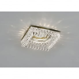 Single Light Recessed Square Crystal Down Light