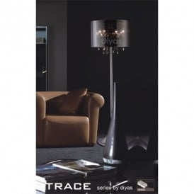 Trace Chrome & Crystal Floor Lamp