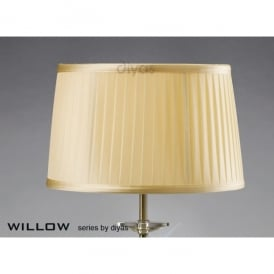 Willow 30cm Shade with Pleated Cream Fabric Ideal For Table Lamps