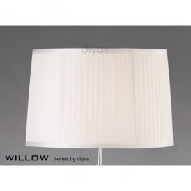 Willow Large 40cm White Pleated Fabric Shade