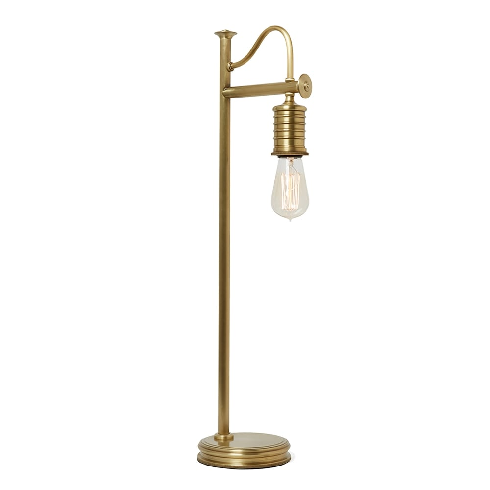 Elstead lighting douille single light table lamp only in aged brass finish lighting type from - Table lamp types ...