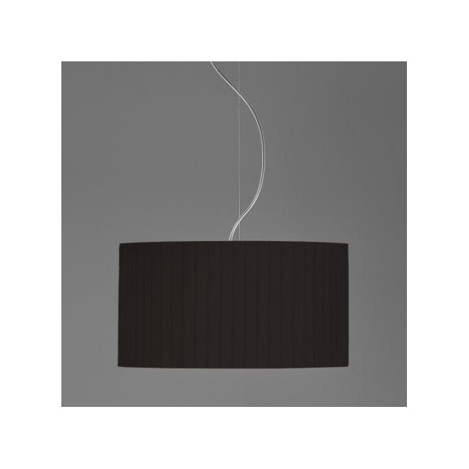 Astro Lighting Drum 400 Black Pleated Shade For Use With Ceiling Pendants