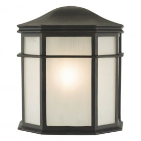 Dulbecco Single Light Outdoor Wall Lantern in Cast Aluminium Matte Black Finish