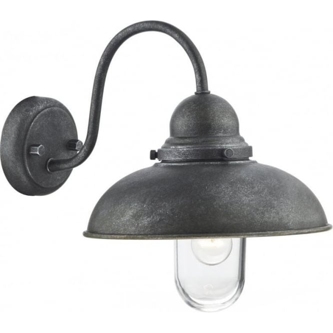 Dar Lighting Dynamo Outdoor Single Light Wall Fitting in an Aged Iron Finish
