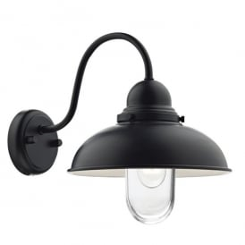 Dynamo Outdoor Single Light Wall Fitting In Black Finish