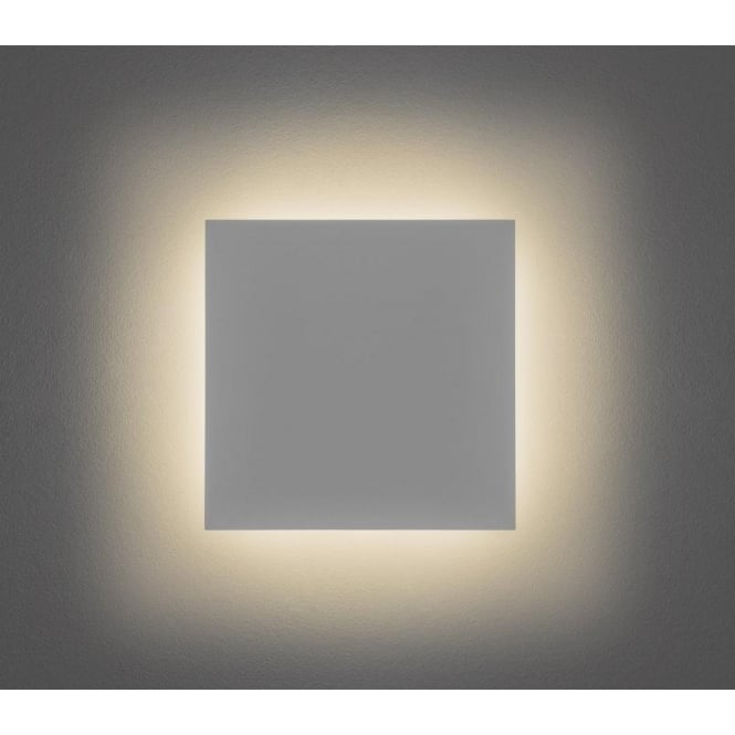 All Square Wall Lights : Astro Lighting Eclipse Ceramic Square 300 Single Light LED Wall Fitting In White Finish ...