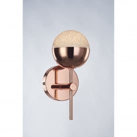 Eclipse Single Light LED Wall Fitting in Copper Finish