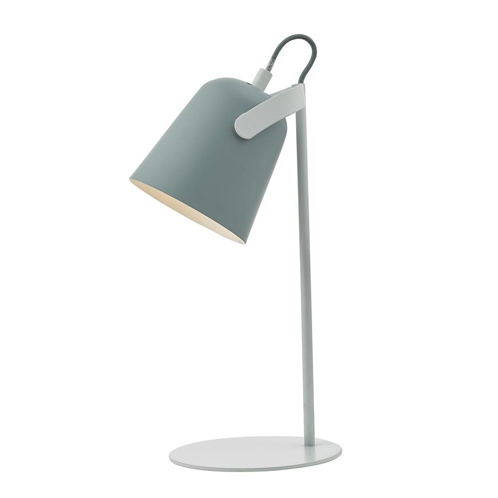 White Desk Lamp : Dar lighting effie single light table lamp in grey and