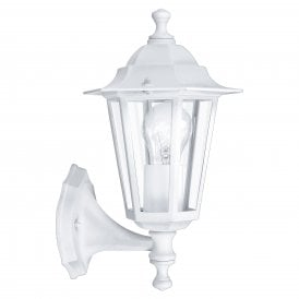 22463 'Laterna 5' Outdoor Single Light Wall Fitting In White Finish