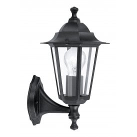 22468 'Laterna 4' Outdoor Single Light Wall Fitting Post In Black Finish