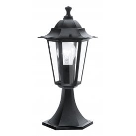 22472 'Laterna 4' Outdoor Single Light Pedestal In Black Finish