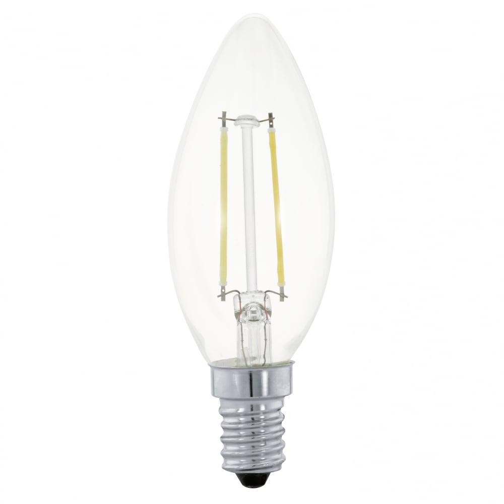 eglo lighting 2w led warm white e14 small edison screw candle lamp castlegate lights. Black Bedroom Furniture Sets. Home Design Ideas