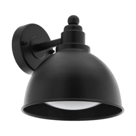 33143 Airola Single Light Wall Fitting In Black Finish