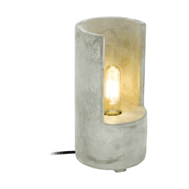 49111 Lynton Single Light Small Table Lamp in Concrete Grey Finish