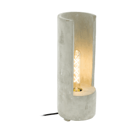 49112 Lynton Single Light Large Table Lamp in Concrete Finish
