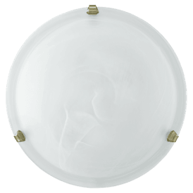 7901 Salome 2 Light Large Flush Ceiling Fitting with a White Shade and Bronze Clips