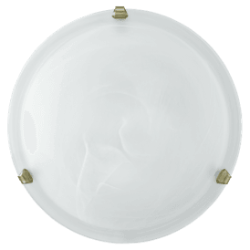 7902 Salome Single Light Flush Ceiling Fitting with a White Shade and Bronze Clips
