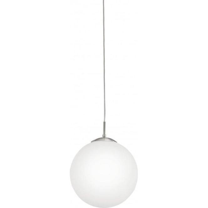 Eglo Lighting 85263 Rondo Large Opal White Glass Globe Ceiling Pendant